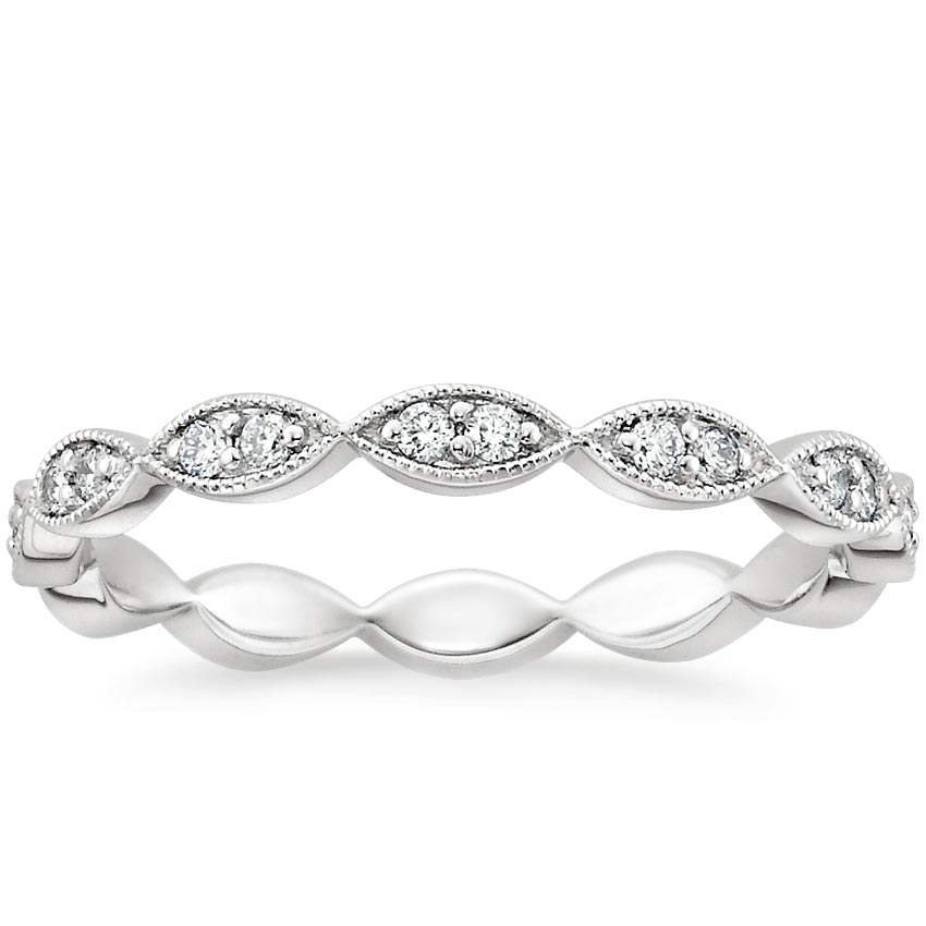 Cadenza Eternity Diamond Ring (1/4 ct. tw.) in 18K White Gold