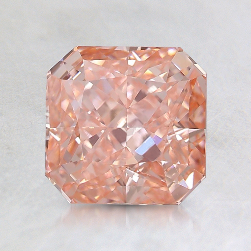 1.43 Ct. Fancy Intense Orangy Pink Radiant Lab Created Diamond