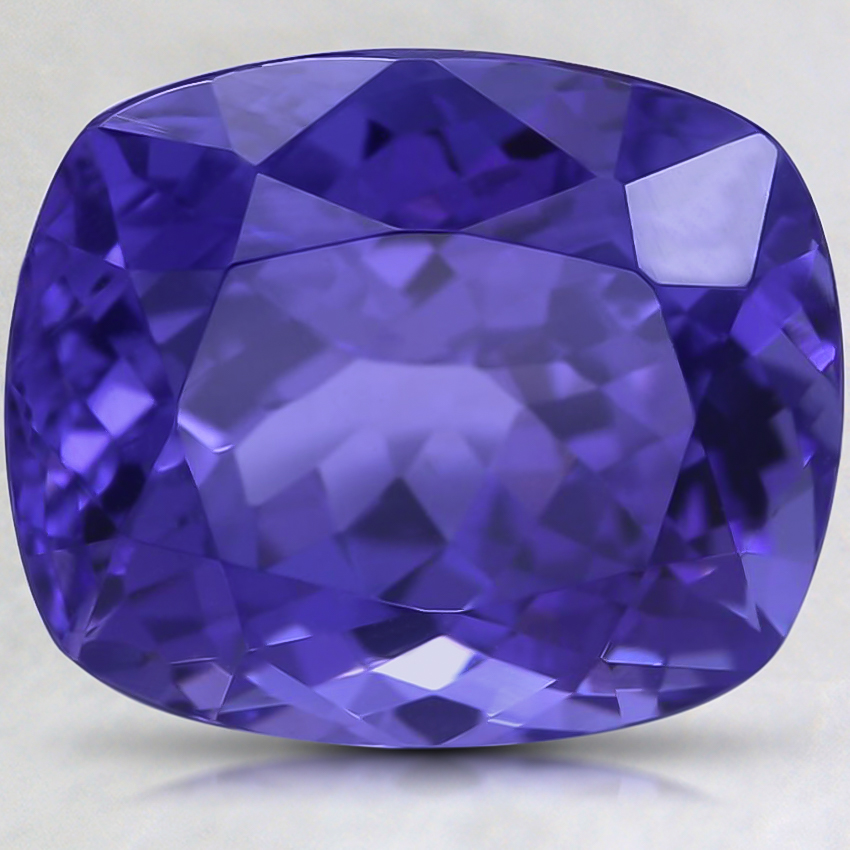 14x11.8mm Super Premium Purple Cushion Tanzanite