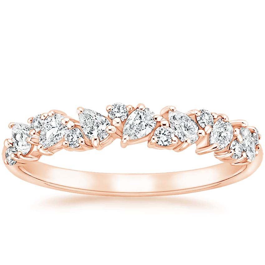 Rose Gold Olivetta Diamond Ring