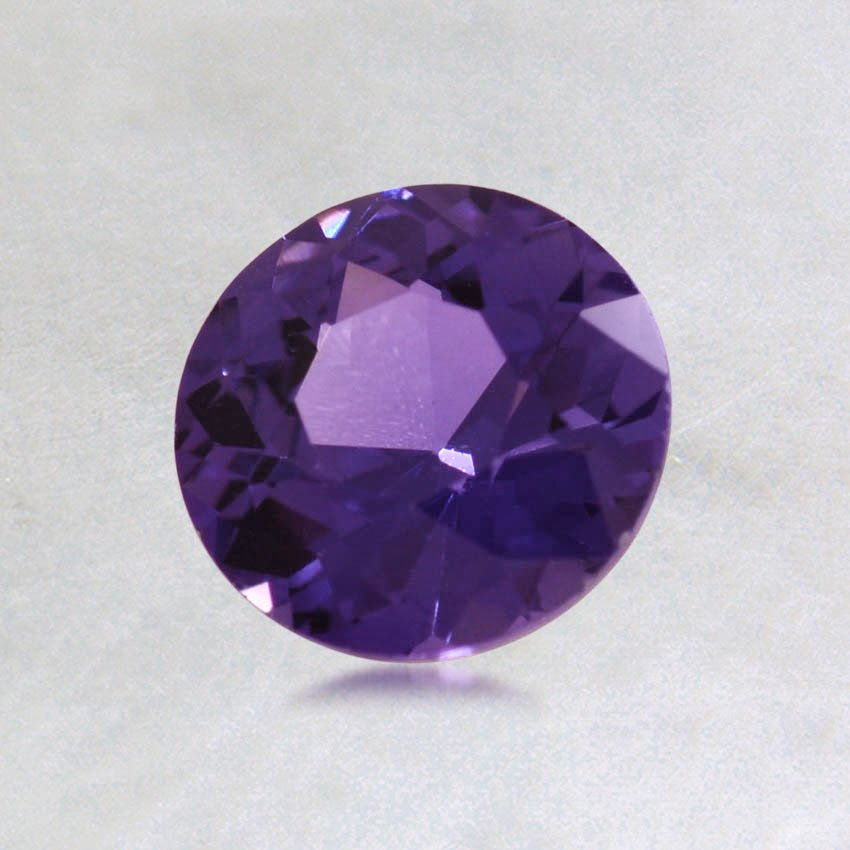 6mm Premium Purple Round Sapphire, top view