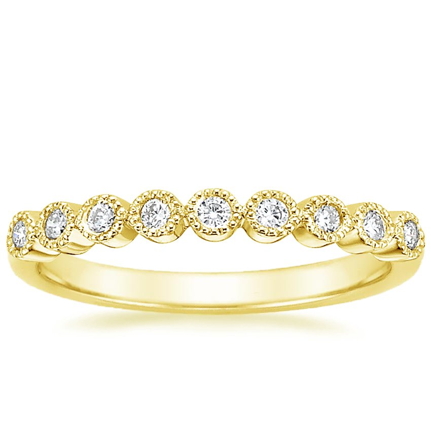 Yellow Gold Bezel Eternity Diamond Ring