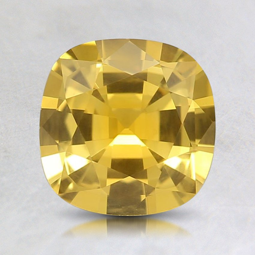 7mm Premium Yellow Cushion Sapphire
