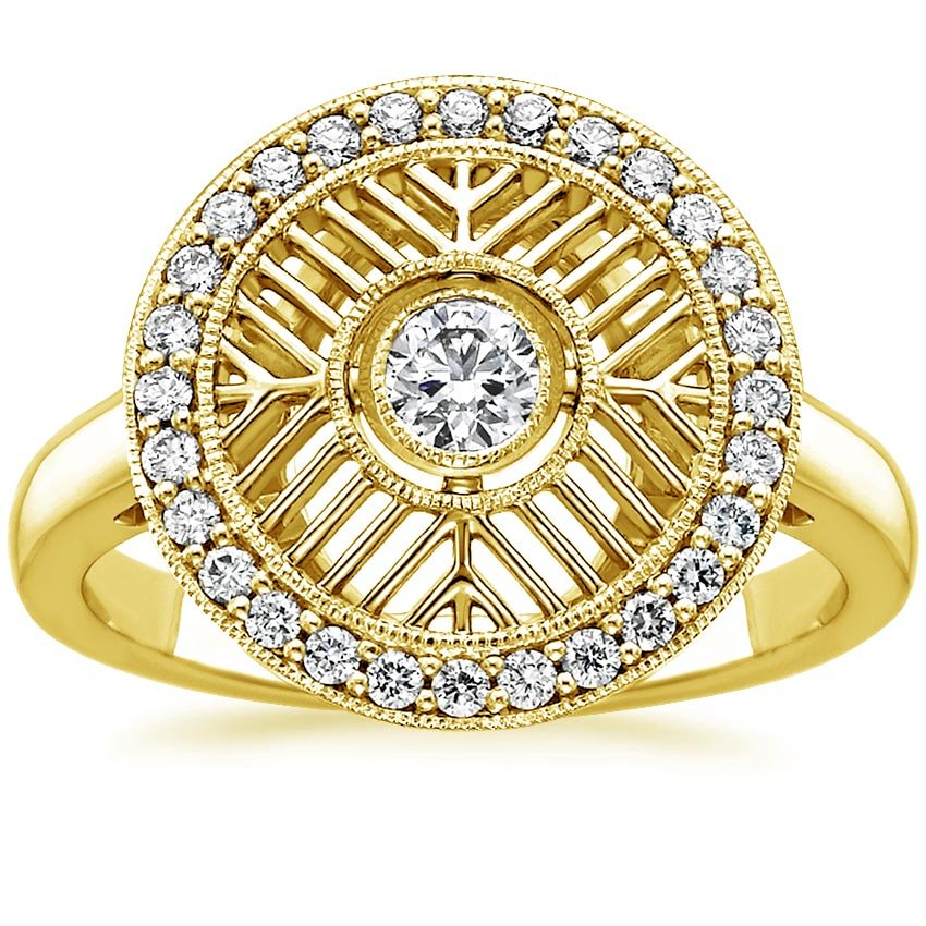 Yellow Gold Derrylin Diamond Ring