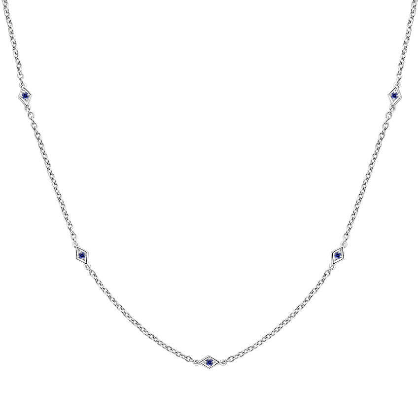 Sapphire Station Necklace