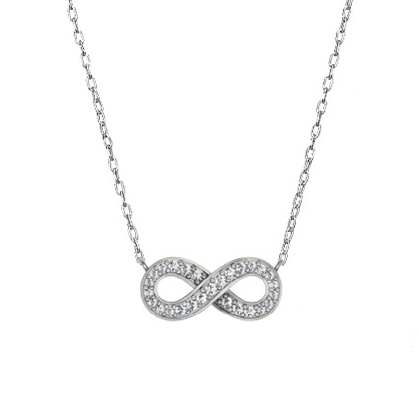 zoom black to silver diamond white necklace kaystore hover zm cttw sterling mv pendant kay en infinity
