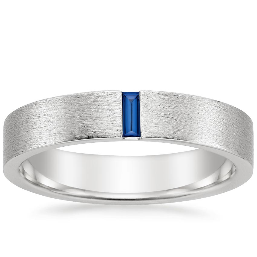Top Twenty Men's Wedding Rings  - APOLLO SAPPHIRE WEDDING RING