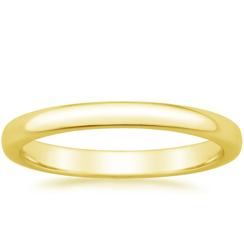 Yellow Gold 2.5mm Comfort Fit Wedding Ring