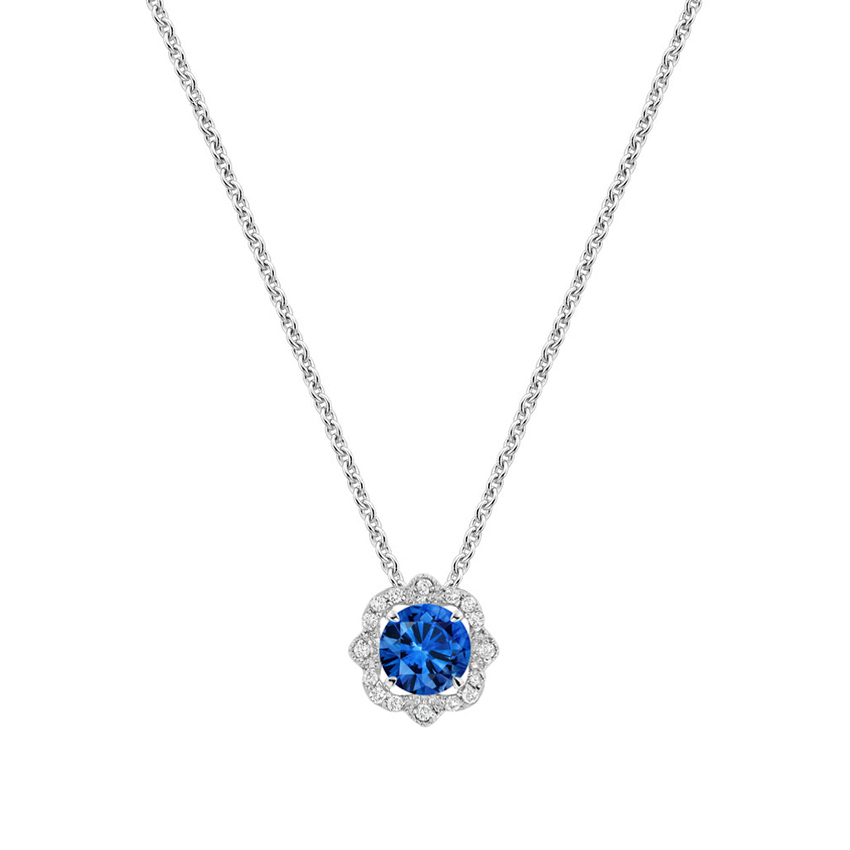 Sapphire and diamond necklace reina brilliant earth sapphire and diamond necklace aloadofball Image collections
