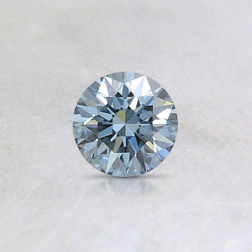 0.27 Ct. Fancy Blue Round Lab Created Diamond