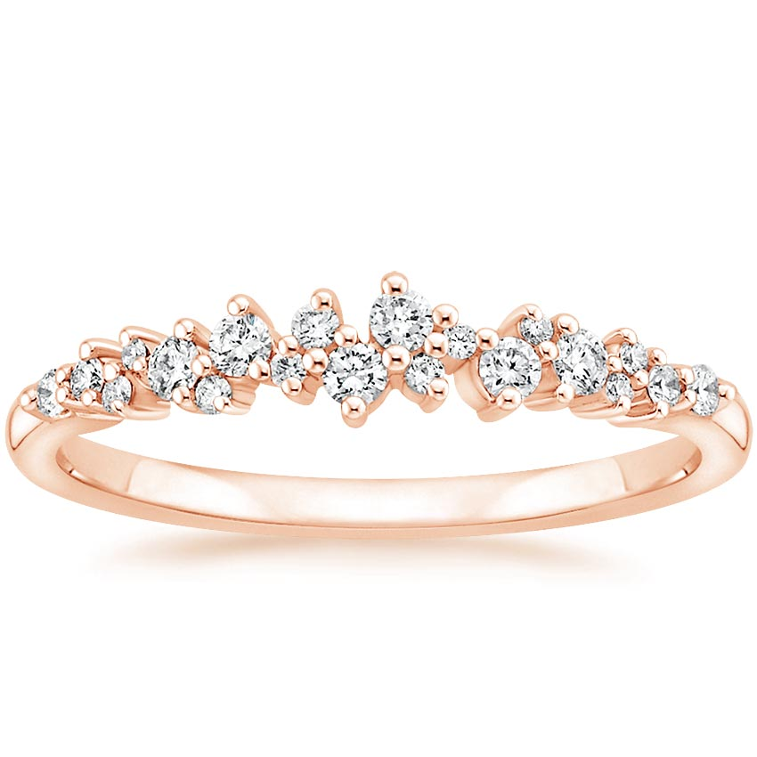 Rose Gold Diamond Cluster Wedding Band