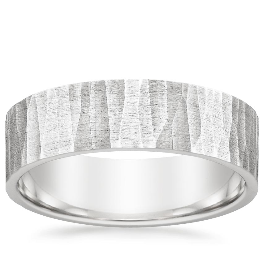 Aspen Wedding Ring in 18K White Gold