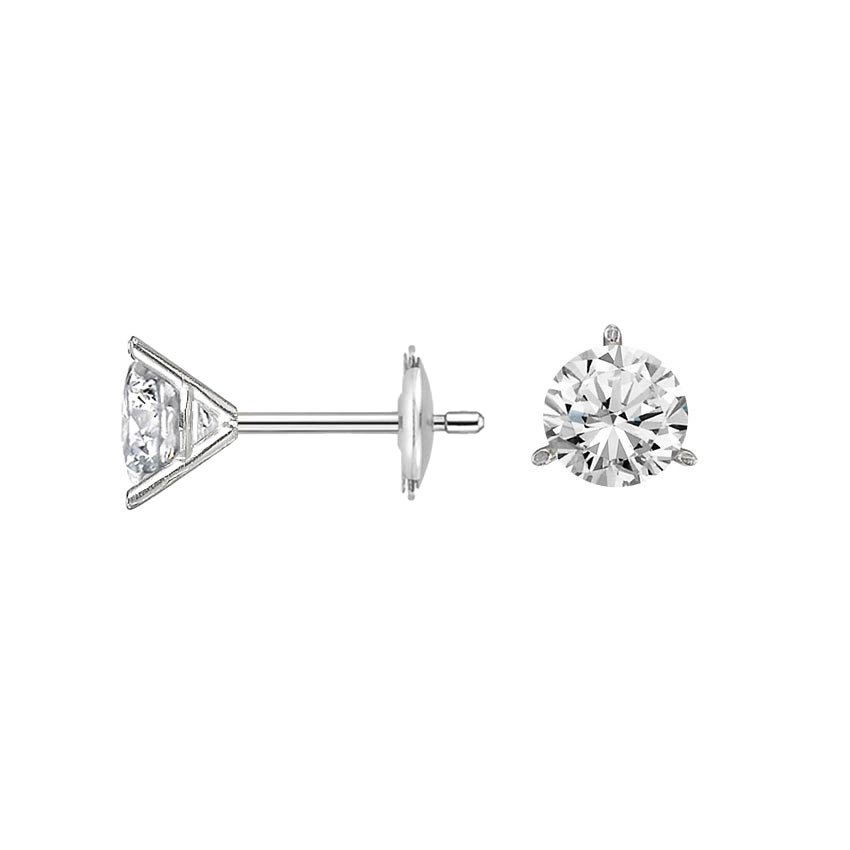 stud stunning moissanite quality earrings one forever pin diamond high ct carat