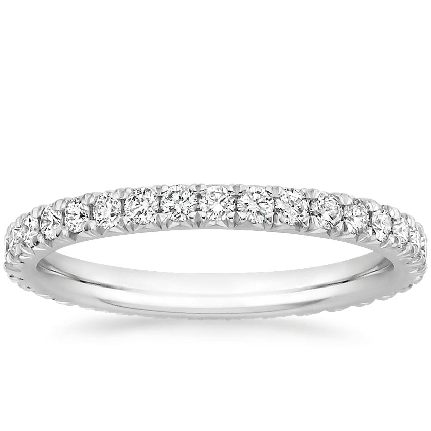 French Pavé Eternity Diamond Ring