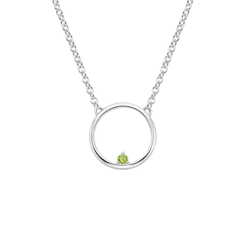 Peridot Hoop Necklace
