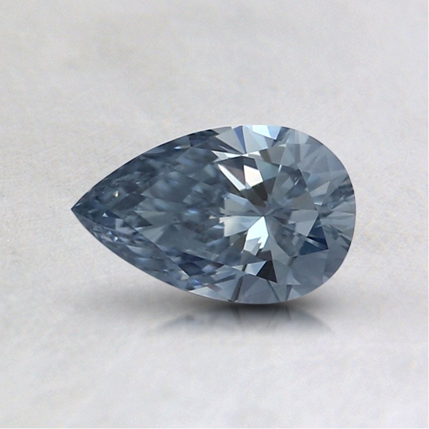 0.42 Ct. Fancy Blue Pear Lab Created Diamond
