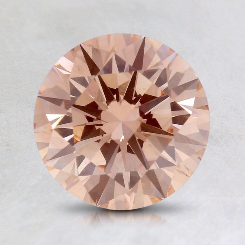 1.50 Ct. Fancy Orangy Pink Round Lab Created Diamond