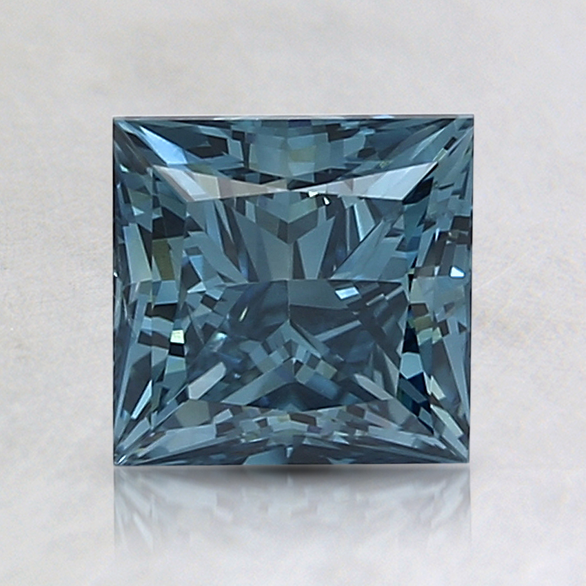 1.55 Ct. Fancy Deep Blue Princess Lab Created Diamond
