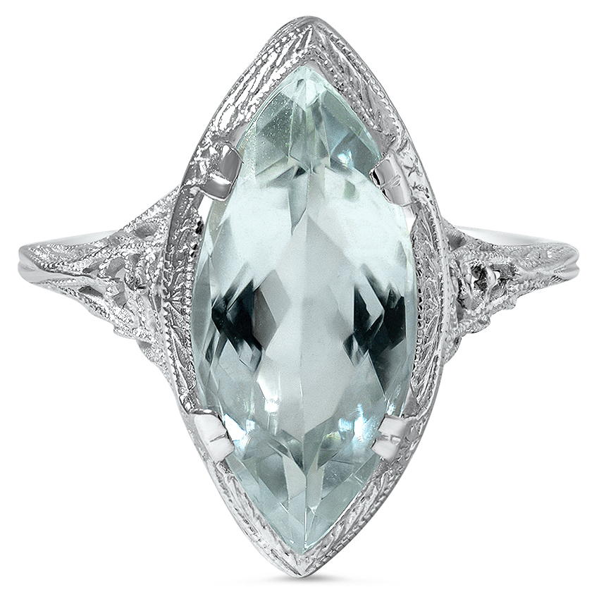 Art Deco Aquamarine Vintage Ring