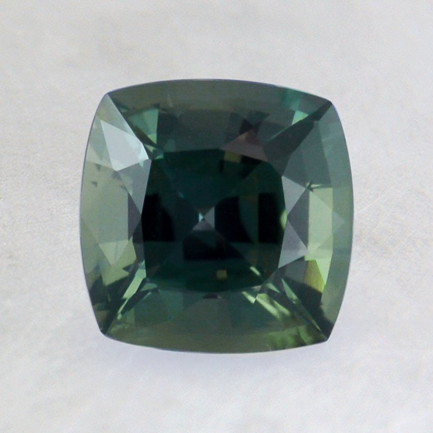 6.5mm Unheated Green Cushion Sapphire