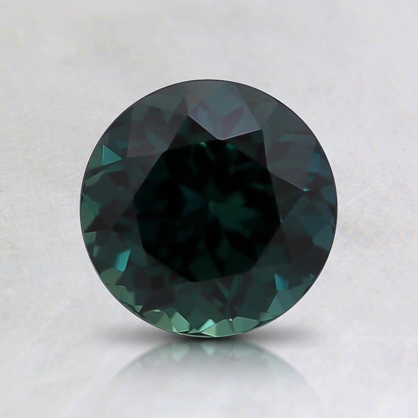 6.3mm Round Teal Sapphire
