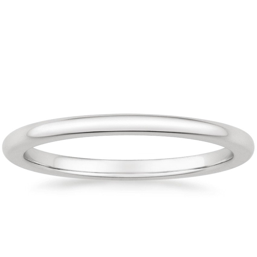 Platinum Petite Comfort Fit Wedding Ring, top view