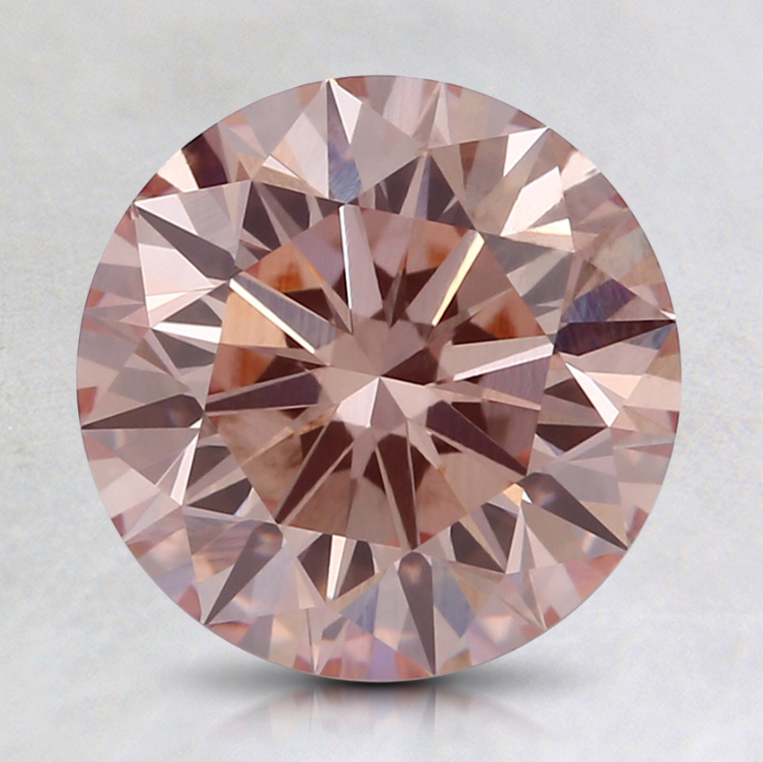 2.02 Ct. Fancy Orangy Pink Round Lab Created Diamond