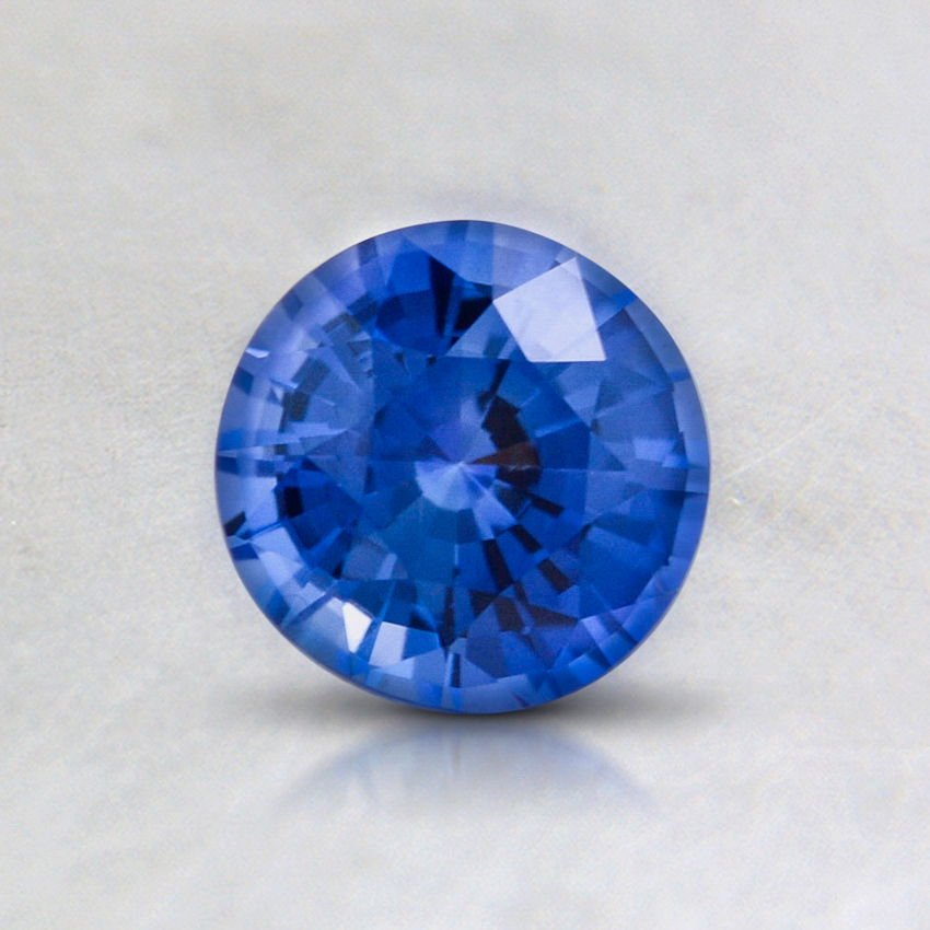 5.5mm Blue Round Sapphire, top view