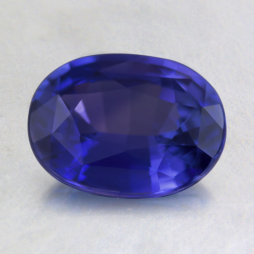 8x6mm Unheated Blue Oval Sapphire, top view