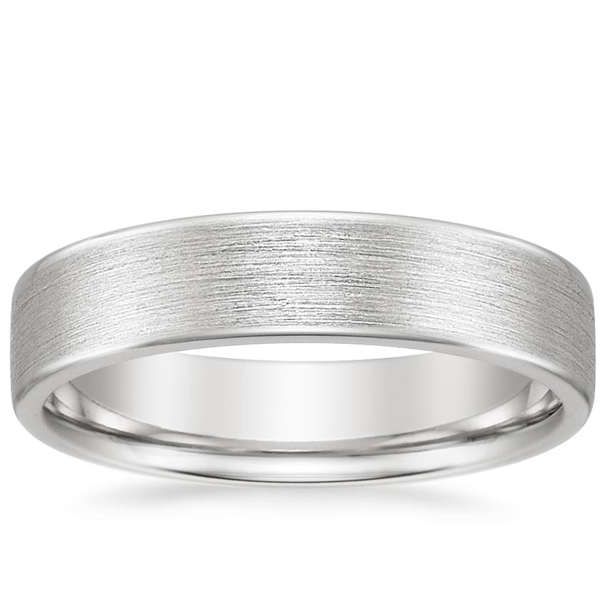 18K White Gold Mojave Matte Ring, top view