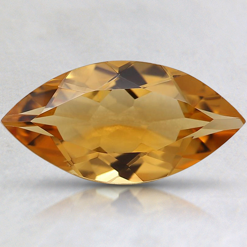 12.1x6.1mm Yellow Marquise Citrine