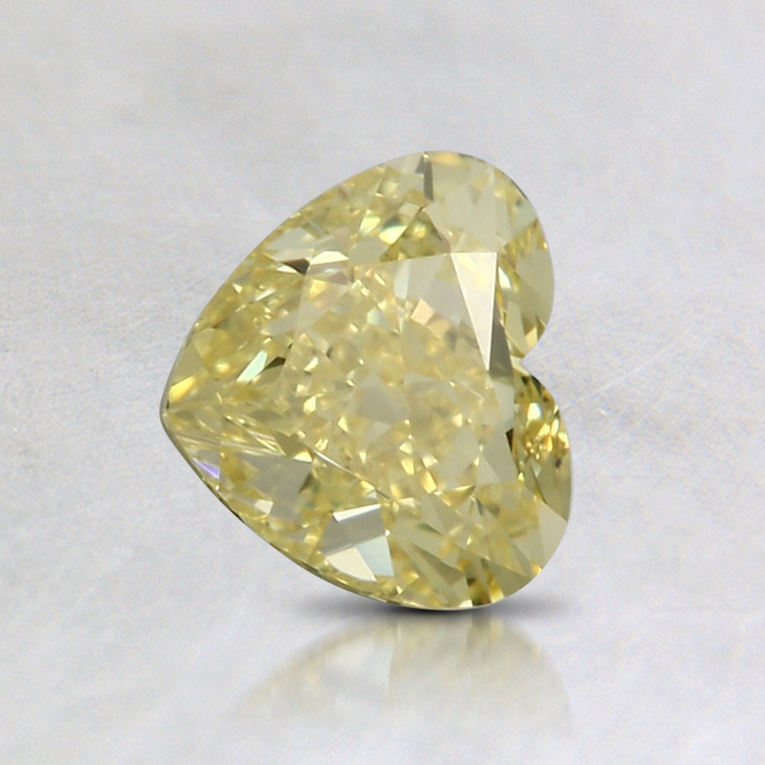 0.90 Ct. Fancy Intense Yellow Heart Colored Diamond
