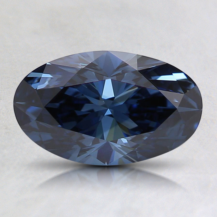 1.04 Ct. Fancy Deep Blue Oval Lab Created Diamond