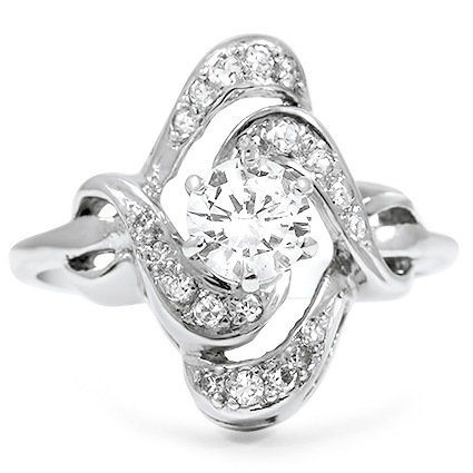 The Janika Ring, top view