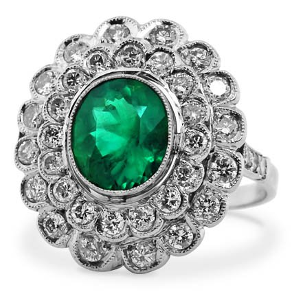Art Nouveau Emerald Vintage Ring