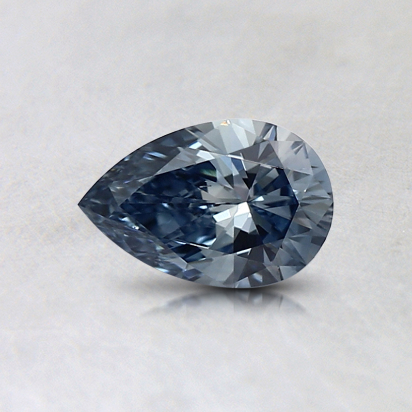 0.37 Ct. Fancy Light Blue Pear Lab Created Diamond