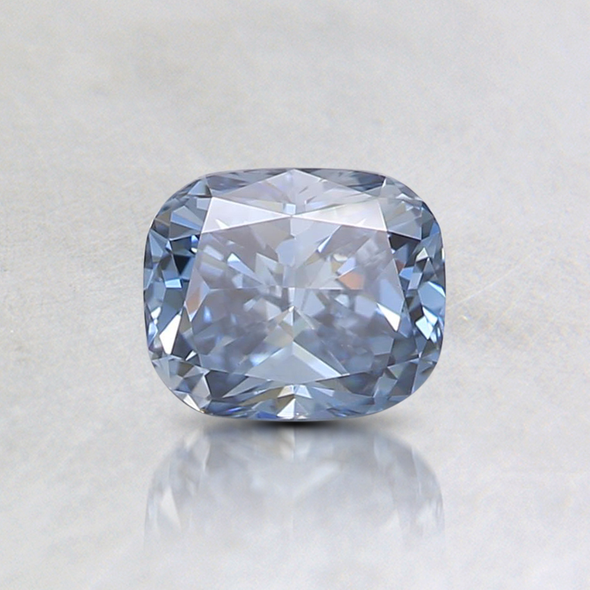 0.55 Ct. Fancy Intense Blue Cushion Lab Created Diamond