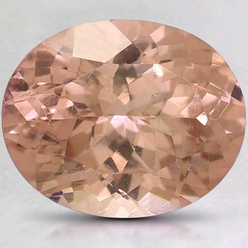11x9mm Peach Oval Garnet