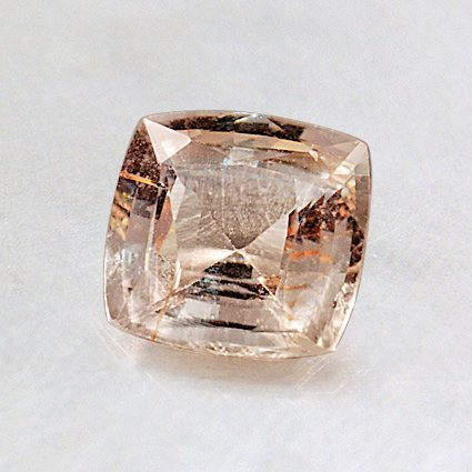 6.0mm Light Peach Cushion Sapphire, top view