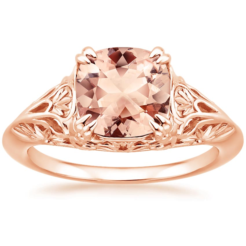 Rose Gold Morganite Leonora Ring