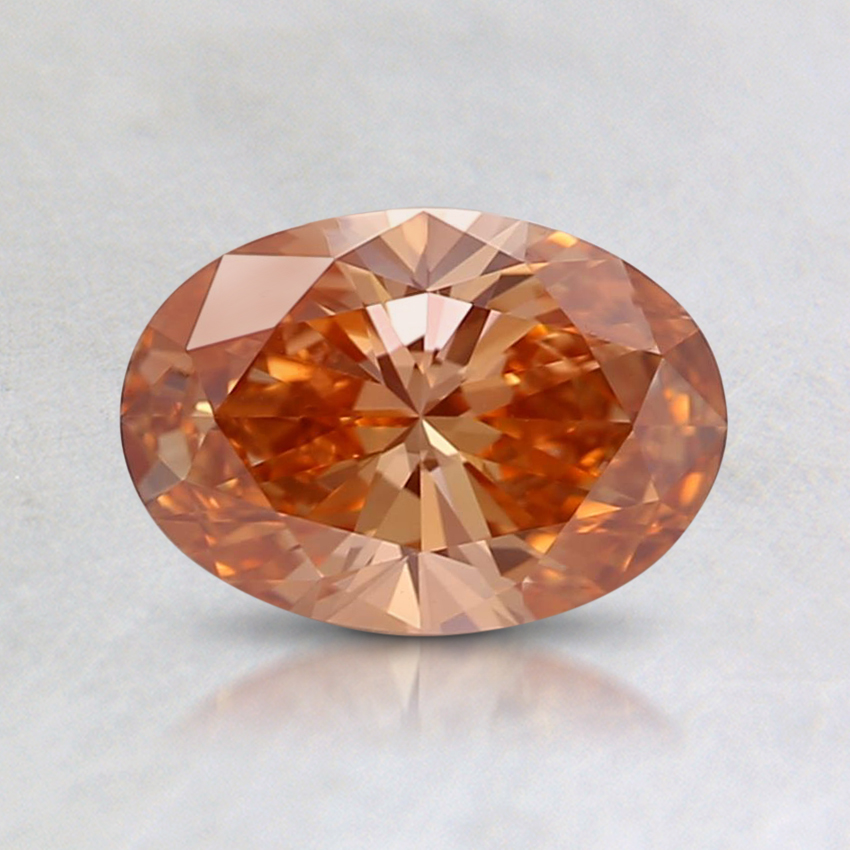 0.76 Ct. Fancy Intense Orangy Brown Oval Lab Created Diamond