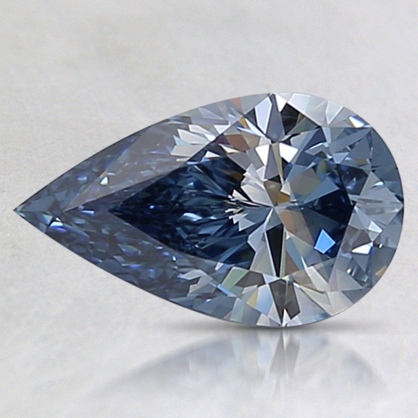1.07 Ct. Fancy Vivid Blue Pear Lab Created Diamond