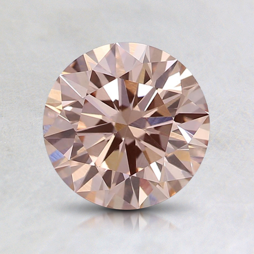 1.09 Ct. Fancy Light Pink Round Lab Created Diamond