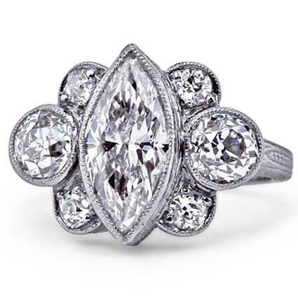 The Giselle Ring, top view