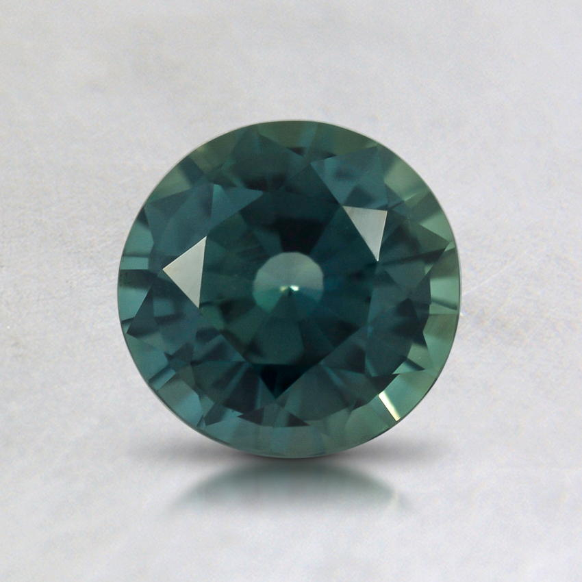 6mm Green Round Sapphire, top view