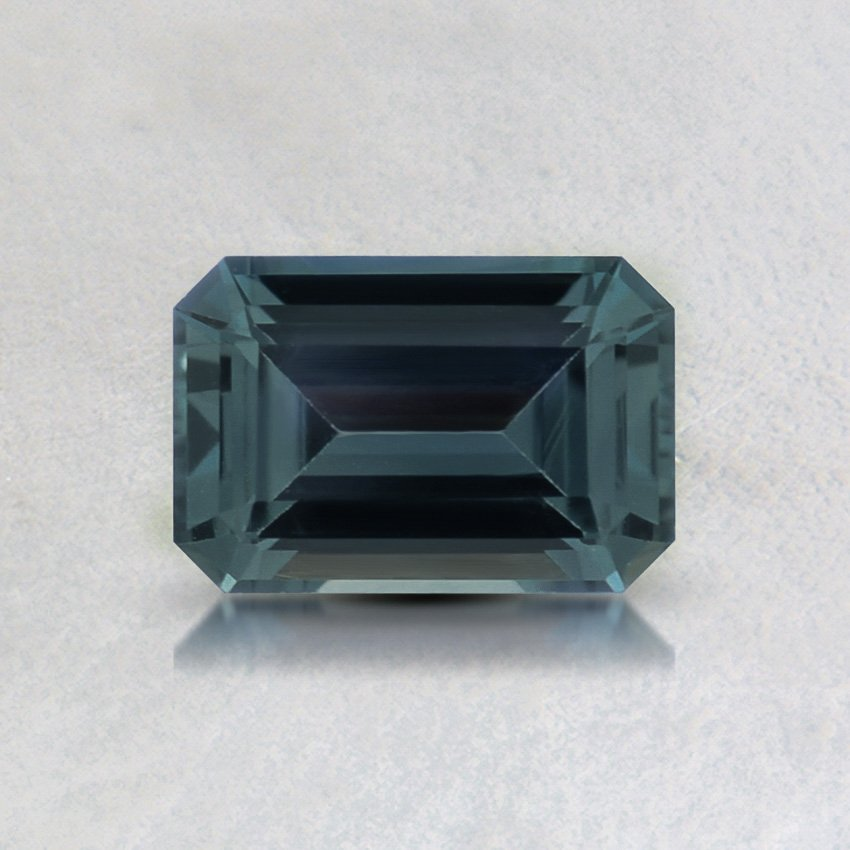 6X4mm Teal Emerald Sapphire, top view
