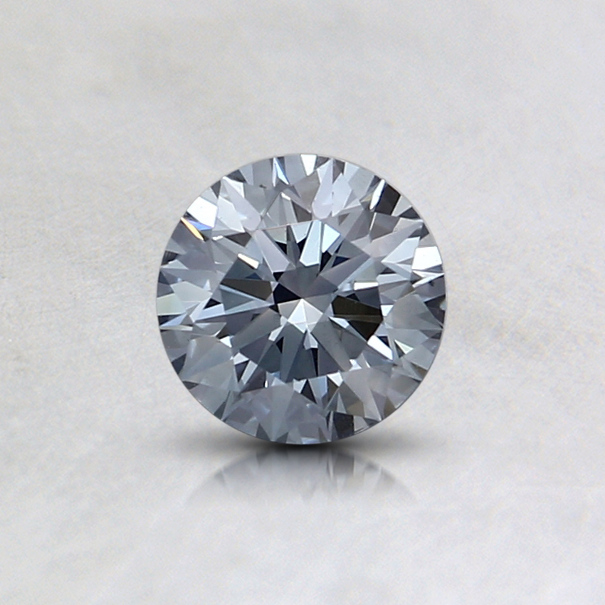 0.44 Ct. Fancy Blue Round Lab Created Diamond