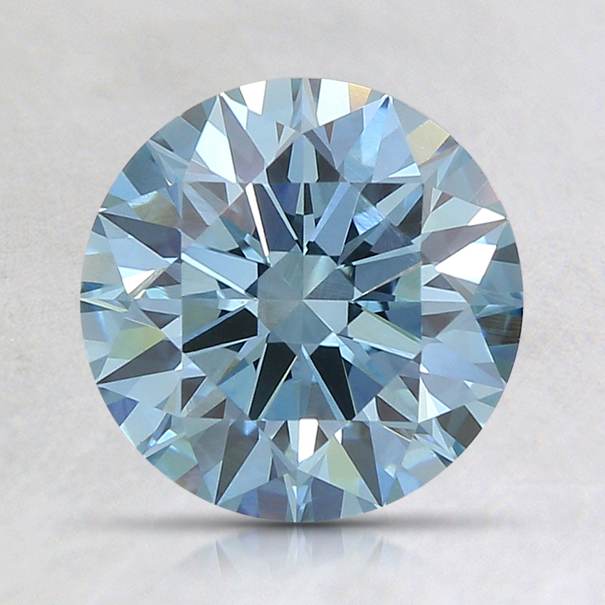 1.56 Ct. Fancy Blue Round Lab Created Diamond