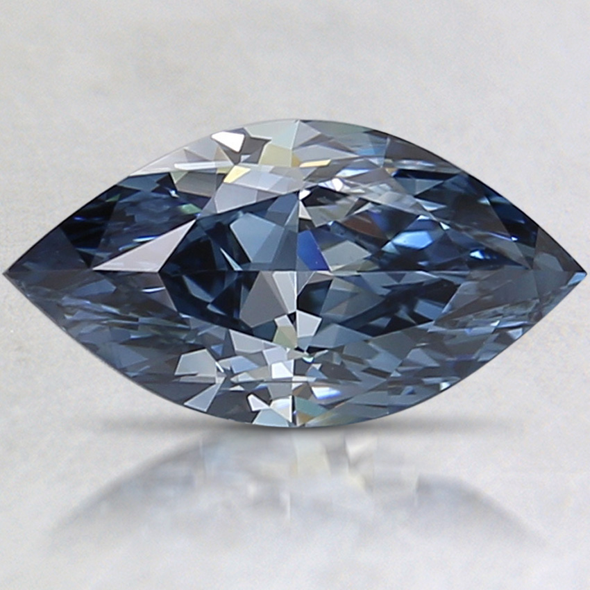 1.65 Ct. Fancy Deep Blue Marquise Lab Created Diamond