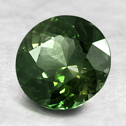 8.2mm Unheated Green Round Sapphire, top view